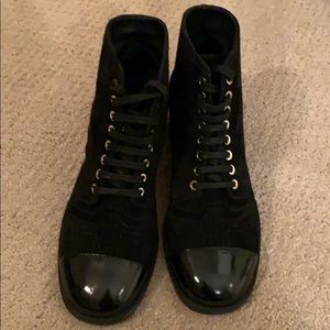 Black Authentic CHANEL booties